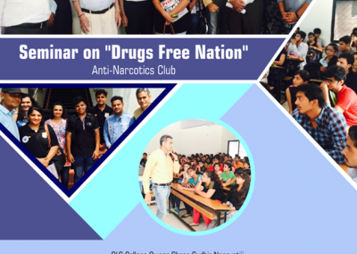 Seminar on 'Drug Free Nation' at GLS Campus